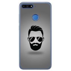 Funda Gel Tpu para Huawei Honor 7A / Y6 2018 Diseño Barba Dibujos