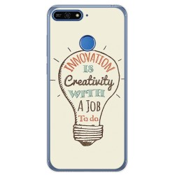 Funda Gel Tpu para Huawei Honor 7A / Y6 2018 Diseño Creativity Dibujos