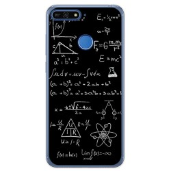 Funda Gel Tpu para Huawei Honor 7A / Y6 2018 Diseño Formulas Dibujos
