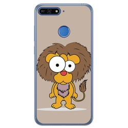 Funda Gel Tpu para Huawei Honor 7A / Y6 2018 Diseño Leon Dibujos
