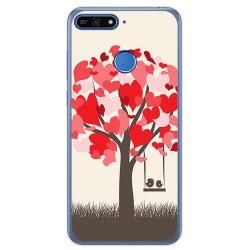 Funda Gel Tpu para Huawei Honor 7A / Y6 2018 Diseño Pajaritos Dibujos