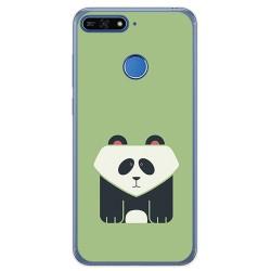 Funda Gel Tpu para Huawei Honor 7A / Y6 2018 Diseño Panda Dibujos