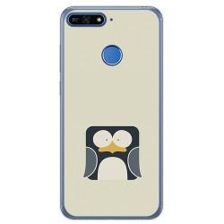 Funda Gel Tpu para Huawei Honor 7A / Y6 2018 Diseño Pingüino Dibujos