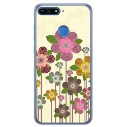 Funda Gel Tpu para Huawei Honor 7A / Y6 2018 Diseño Primavera En Flor Dibujos