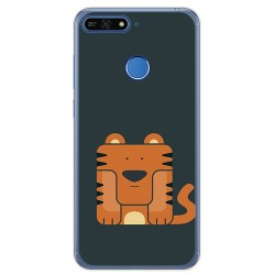Funda Gel Tpu para Huawei Honor 7A / Y6 2018 Diseño Tigre Dibujos