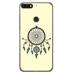 Funda Gel Tpu para Huawei Honor 7C / Y7 2018 Diseño Atrapasueños Dibujos