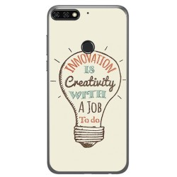 Funda Gel Tpu para Huawei Honor 7C / Y7 2018 Diseño Creativity Dibujos