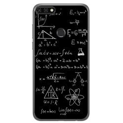 Funda Gel Tpu para Huawei Honor 7C / Y7 2018 Diseño Formulas Dibujos
