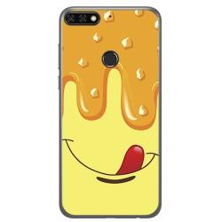 Funda Gel Tpu para Huawei Honor 7C / Y7 2018 Diseño Helado Vainilla Dibujos