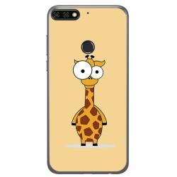 Funda Gel Tpu para Huawei Honor 7C / Y7 2018 Diseño Jirafa Dibujos