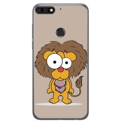 Funda Gel Tpu para Huawei Honor 7C / Y7 2018 Diseño Leon Dibujos