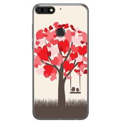 Funda Gel Tpu para Huawei Honor 7C / Y7 2018 Diseño Pajaritos Dibujos