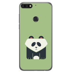 Funda Gel Tpu para Huawei Honor 7C / Y7 2018 Diseño Panda Dibujos