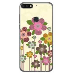 Funda Gel Tpu para Huawei Honor 7C / Y7 2018 Diseño Primavera En Flor Dibujos