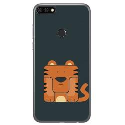 Funda Gel Tpu para Huawei Honor 7C / Y7 2018 Diseño Tigre Dibujos