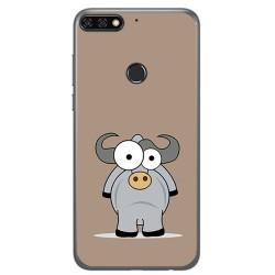Funda Gel Tpu para Huawei Honor 7C / Y7 2018 Diseño Toro Dibujos