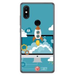 Funda Gel Tpu para Xiaomi Mi Mix 2S Diseño Cohete Dibujos