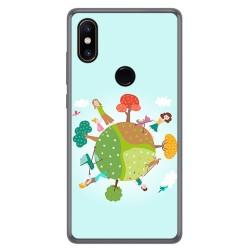 Funda Gel Tpu para Xiaomi Mi Mix 2S Diseño Familia Dibujos
