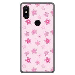 Funda Gel Tpu para Xiaomi Mi Mix 2S Diseño Flores Dibujos