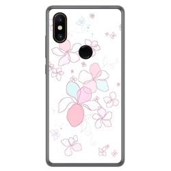 Funda Gel Tpu para Xiaomi Mi Mix 2S Diseño Flores Minimal Dibujos