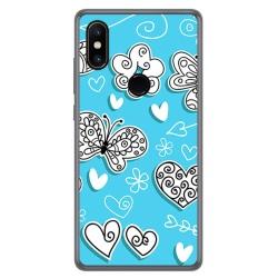 Funda Gel Tpu para Xiaomi Mi Mix 2S Diseño Mariposas Dibujos