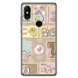 Funda Gel Tpu para Xiaomi Mi Mix 2S Diseño Sellos Dibujos