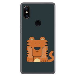 Funda Gel Tpu para Xiaomi Mi Mix 2S Diseño Tigre Dibujos