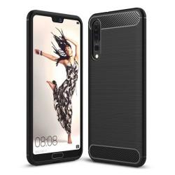 Funda Gel Tpu Tipo Carbon Negra para Huawei P20 Pro