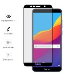 Protector Cristal Templado Frontal Completo Negro para Huawei Honor 7A / Y6 2018 Vidrio