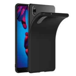 Funda Gel Tpu Tipo Mate Negra para Huawei P20