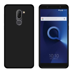 Funda Gel Tpu para Alcatel 3x Color Negra