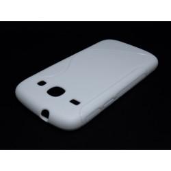 Funda Gel Tpu Samsung Galaxy Core I8260 S Line Color Blanca