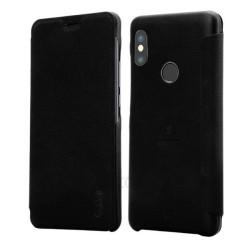 Funda Piel Flip Negra Marca Lenuo para Xiaomi Redmi Note 5 / Note 5 Pro