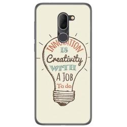 Funda Gel Tpu para Alcatel 3x Diseño Creativity Dibujos