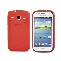 Funda Gel Tpu Samsung Galaxy Core I8260 S Line Color Roja