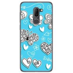 Funda Gel Tpu para Alcatel 3x Diseño Mariposas Dibujos