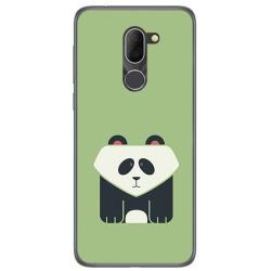 Funda Gel Tpu para Alcatel 3x Diseño Panda Dibujos