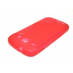 Funda Gel Tpu Samsung Galaxy Core I8260 S Line Color Roja