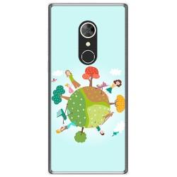 Funda Gel Tpu para Alcatel 5 Diseño Familia Dibujos