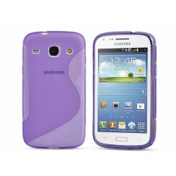 Funda Gel Tpu Samsung Galaxy Core I8260 S Line Color Morada