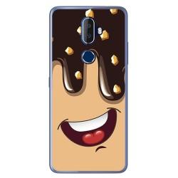 Funda Gel Tpu para Alcatel 3V Diseño Helado Chocolate Dibujos