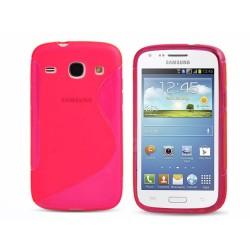Funda Gel Tpu Samsung Galaxy Core I8260 S Line Color Rosa