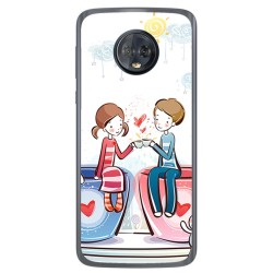 Funda Gel Tpu para Motorola Moto G6 Diseño Cafe Dibujos