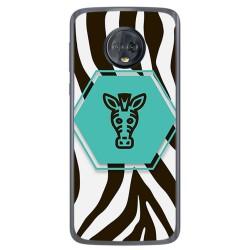 Funda Gel Tpu para Motorola Moto G6 Diseño Cebra Dibujos