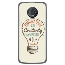 Funda Gel Tpu para Motorola Moto G6 Diseño Creativity Dibujos