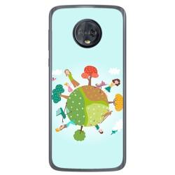 Funda Gel Tpu para Motorola Moto G6 Diseño Familia Dibujos