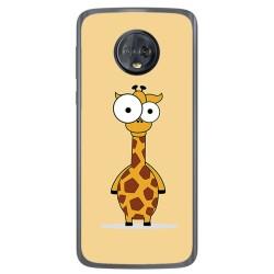 Funda Gel Tpu para Motorola Moto G6 Diseño Jirafa Dibujos