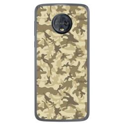 Funda Gel Tpu para Motorola Moto G6 Diseño Sand Camuflaje Dibujos