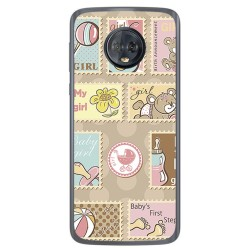 Funda Gel Tpu para Motorola Moto G6 Diseño Sellos Dibujos