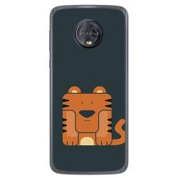 Funda Gel Tpu para Motorola Moto G6 Diseño Tigre Dibujos